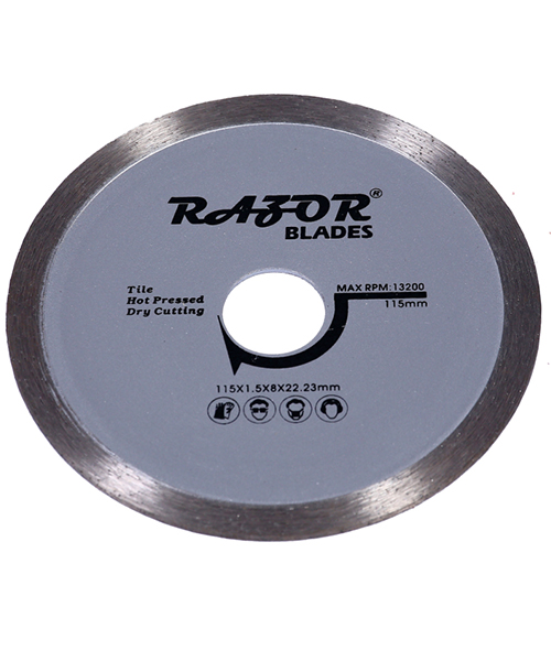 Continuous blades offer the slowest most accurate cutting speeds for the lowest cost.