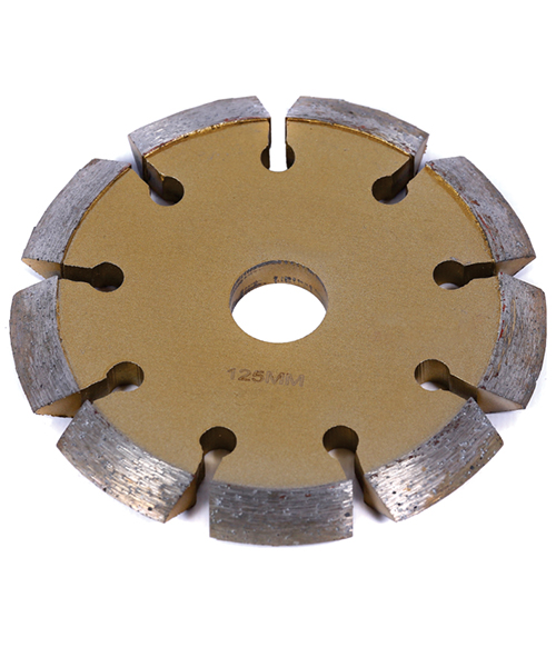 V -shaped segmented diamond cutting blade.