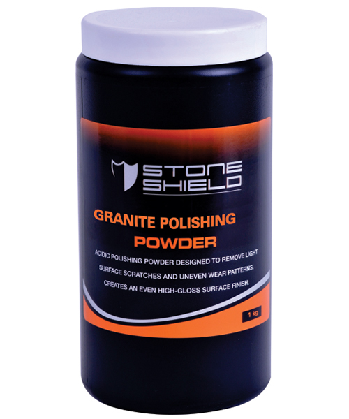 Stoneshield Granite Polishing Powder is a two-part product consisting of a powder and liquid, formulated specifically to create a high gloss finish on granite.