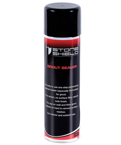 Stoneshield Grout Sealer is an easy to use one-step penetrating aerosol sealer especially formulated for grout.