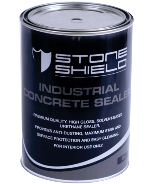 Stoneshield Industrial Concrete Sealer is a premium quality high gloss, solvent based, urethane sealer that provides anti-dusting, maximum stain resistance, surface protection and ease of cleaning.