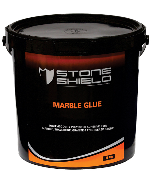 Stoneshield Marble Glue is a polyester adhesive glue and filler for marble, granite, travertine, natural & engineered stone.