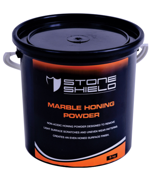 Stoneshield Marble Honing Powder is a non-acidic honing powder designed to remove light surface scratches and uneven wear patterns, to create an even honed surface finish.