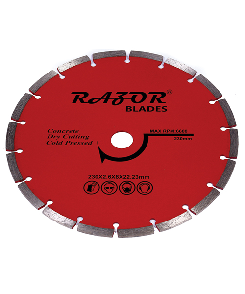 Segmented blades offer the fastest cutting speeds for the lowest cost.