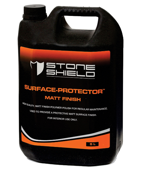 Stoneshield Surface-Protector™ Matt Finish is a high quality matt finish polymer polish for regular maintenance, used to provide a protective matt surface finish.