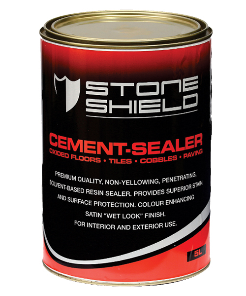 Stoneshield Cement-Sealer is a premium quality, non-yellowing, penetrating, solvent-based resin sealer that provides superior stain and surface protection.